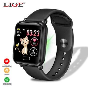 2019LIGE Newest Men Women Smart Watch Health Monitor Heart rate/Blood Pressure/Pedometer Bluetooth Waterproof Sports Bracelet