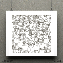 AZSG Hat snowman Clear Stamps/seal for DIY Scrapbooking/Card Making/Photo Album Decoration Supplies