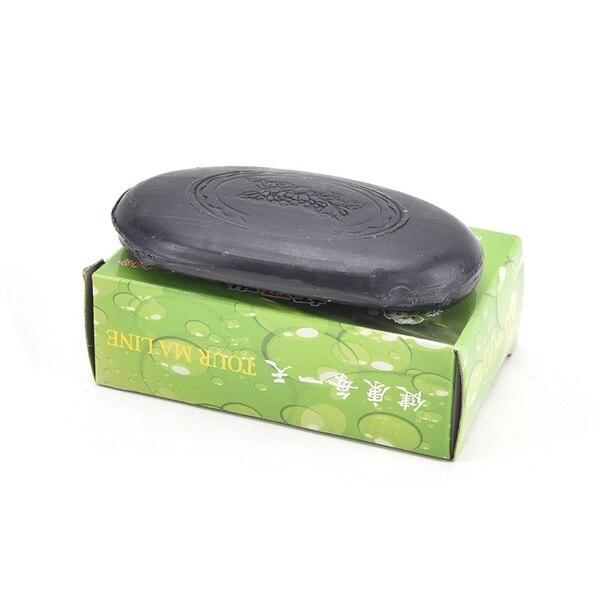 Мыло для лица из черного бамбукового угля, прозрачное антибактериальное турмалиновое мыло