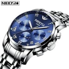 NIBOSI New Relogio Masculino Mens Watches Top Brand Luxury Auto-Date Sport Men Watch Casual Business Waterproof Quartz Watch Men цена 2017