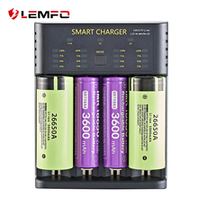 Battery-Charger 26650 Rechargeable-Battery Nimh 21700 18650 LEMFO for 26650/21700/18350/..