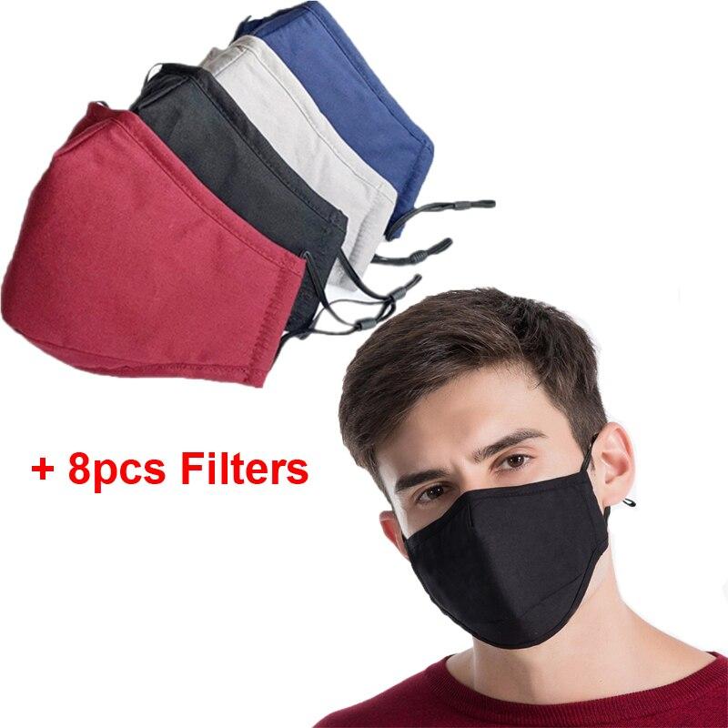 4 компл черный Wasable маска, способный преодолевать Броды для взрослых ткань лицевая маска многоразовые Респиратор маска Рождественская маск...