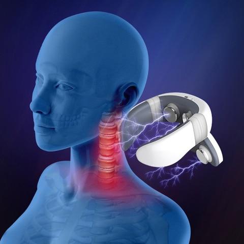 pulso magnetico acupuntura pescoco massageador para alivio