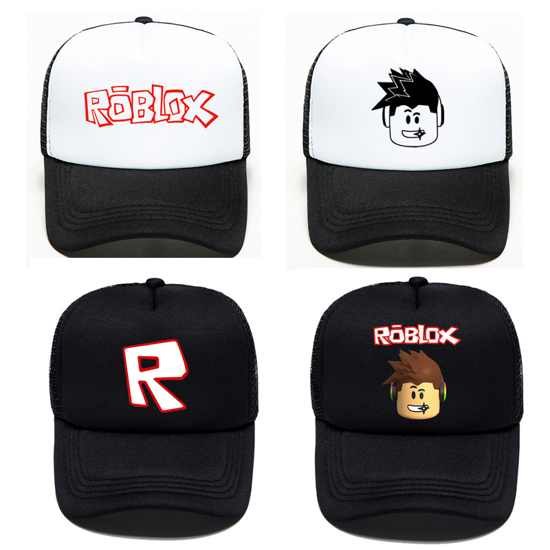 Game Roblox Related Products Baseball Cap Europe And America Second Element Cartoon Mesh Cap Lettered College Style Sun-resistan