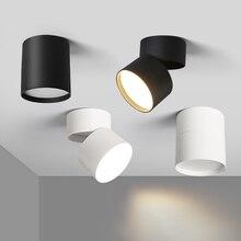 Luminária led downlight para teto, para sala de estar, 7w, 12w e 15w, iluminação para teto, para cozinha e banheiro superfície montada