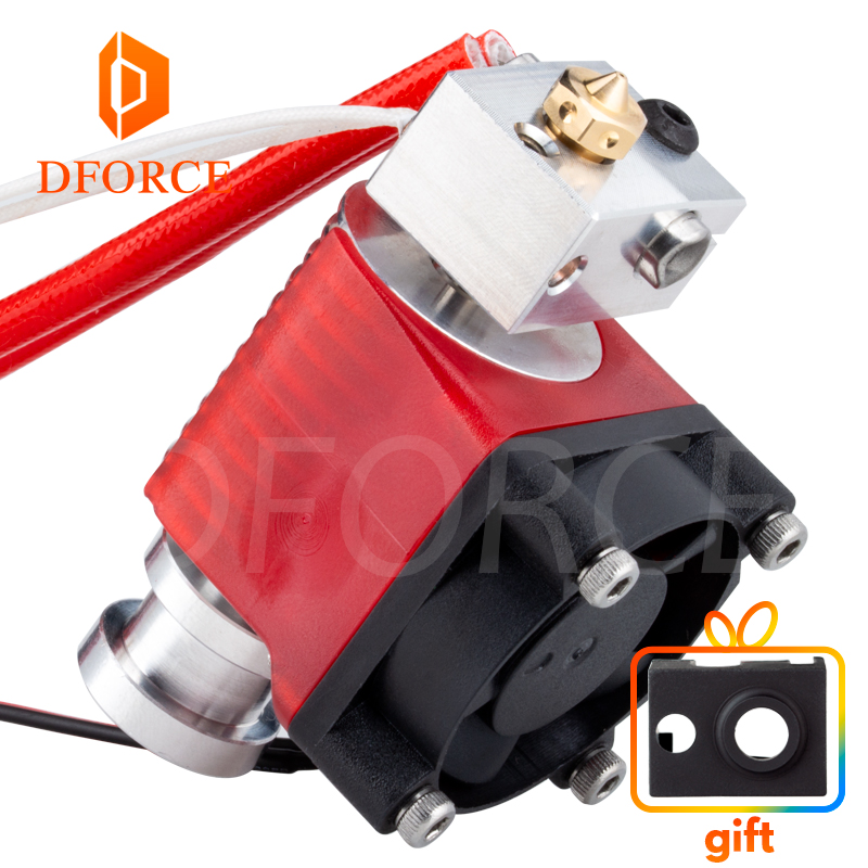 DFORCE Highall-metal V6 Hotend 12V/24V Remote Bowen Print J-head Hotend And Cooling Fan Bracket For E3D HOTEND For PT100