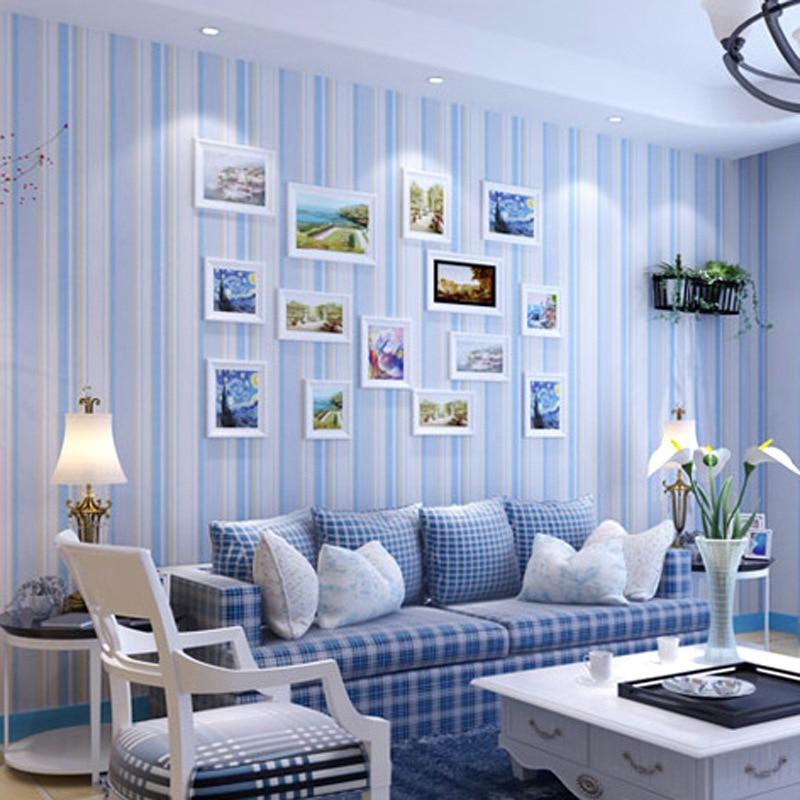 Throwing Modern Minimalist Bedroom 3D Vertical Striped Non-woven Wallpaper Living Room European Style TV Backdrop Wallpaper
