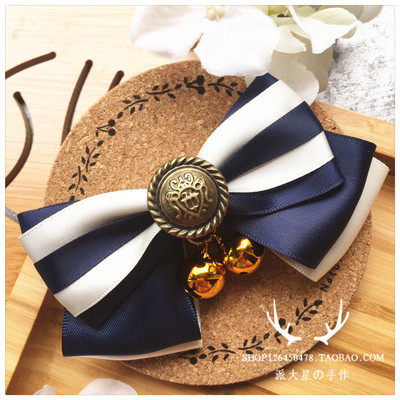 Pet Decorations Neck Ring Bell Bow Cat Dog Small And Medium-sized Dogs Japanese-style And Wind Wedding Bowtie