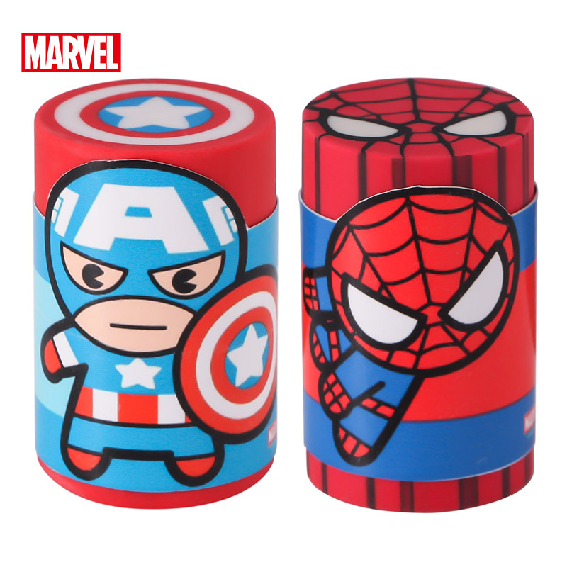 Captain America Spiderman Stationery Cartoon Cute Rubber Creative School Supplies Disney Boy Gift Novelty Erasers Kids Eraser