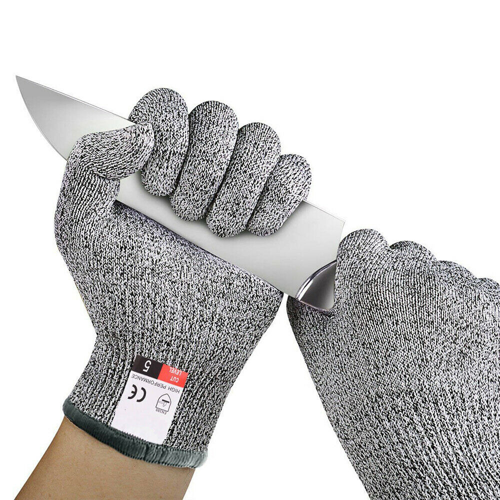 High Strength Grade Level 5 Protection Safety Anti Cut Gloves Kitchen Cut Resistant Gloves For Fish Meat Cutting Safety Gloves