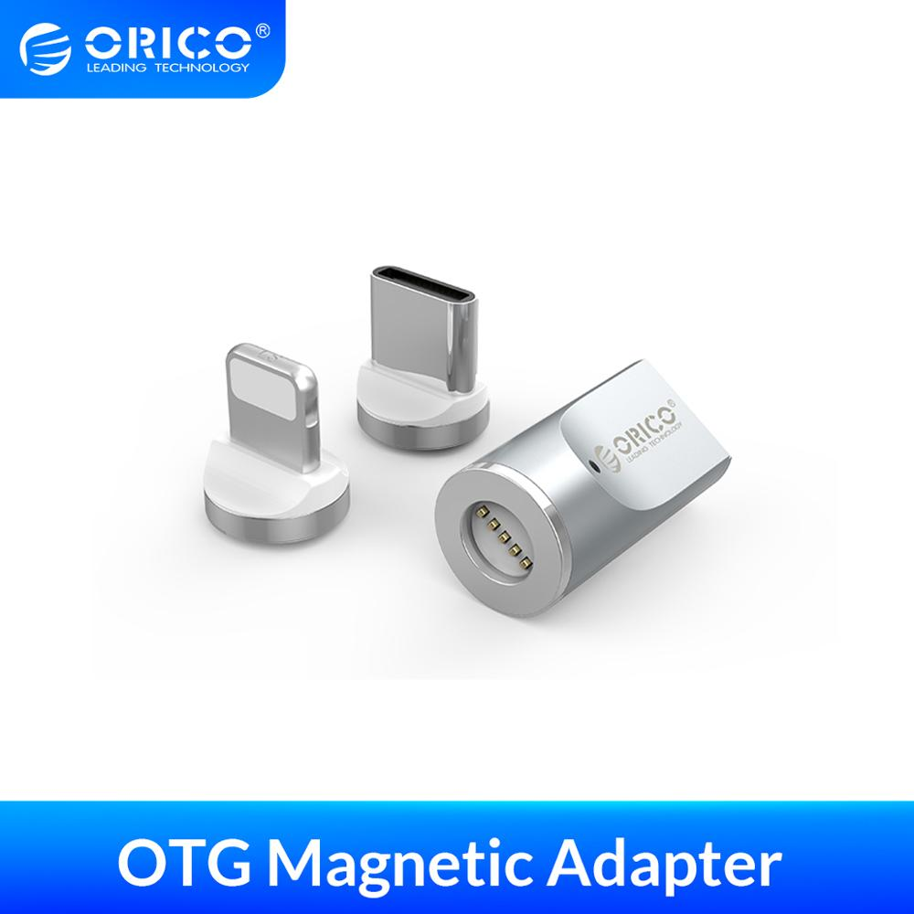 ORICO MicroB To Type C Lighting Magnetic Adapter Quick Charging Converter For Macbook Pro IPhone Samsung Galaxy