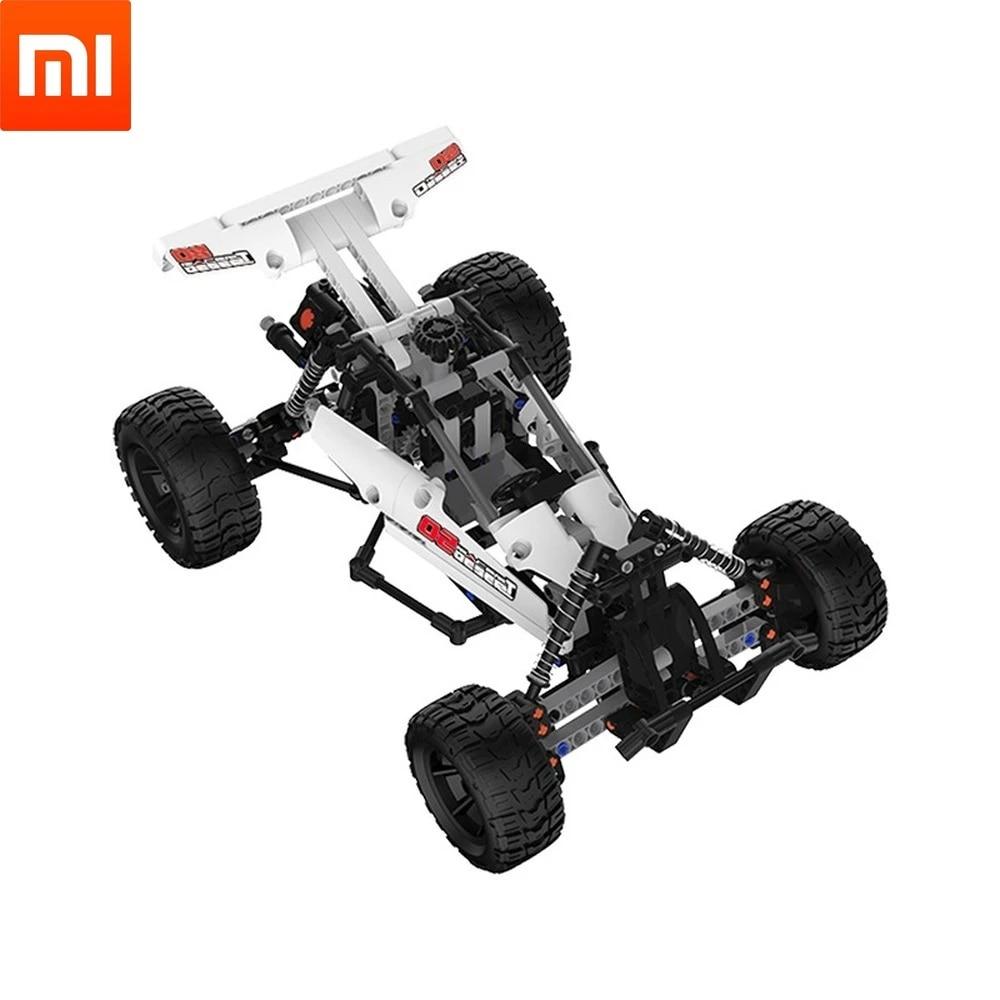 Xiaomi Mijia Mitu Building Blocks Robot Desert Racing Car  Ackermann Steering Cylinder piston linkage  DIY Educational Toys
