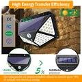 100 светодиодный 114 светодиодный водонепроницаемый светильник с солнечной батареей на открытом воздухе 4-сторонняя лампа на солнечной энерг...
