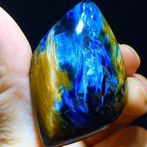 Image 1 - Certificaat Natuurlijke Blauw Pietersite Hanger 47.6/30.4/11.3 Mm Water Drop Chatoyant Healing Gemstone Vrouwen Stone Ketting Aaaaa