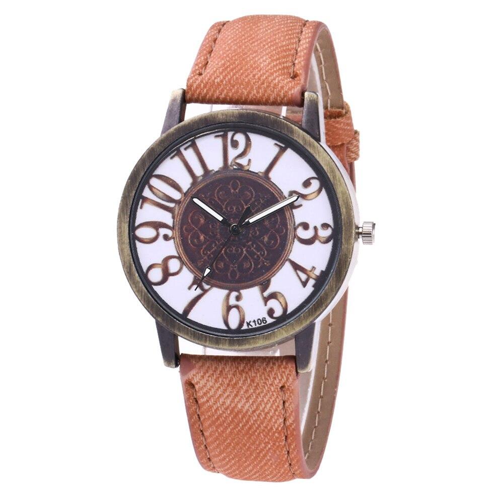 Quartz Watch Men Round Dial Leather Strap Wrist Watches Couple Watch Business Travel LXH