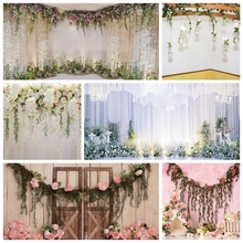 Yeele Flowers Curtain Wedding Photocall Party Deco Photography Backgrounds Customized Photographic Backdrops for Photo Studio
