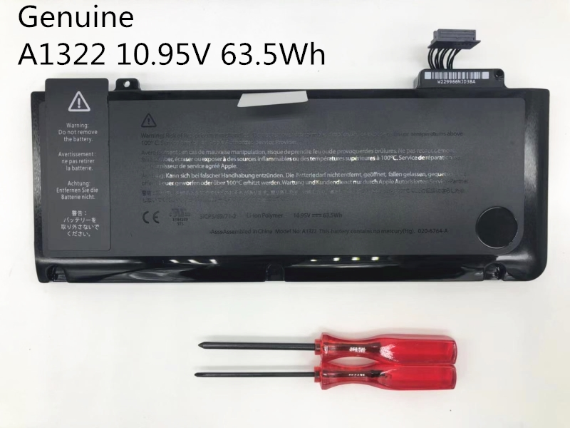 ONEVAN 63.5Wh 10.95V Genuine A1322 A1278 Laptop <font><b>Battery</b></font> For Apple <font><b>Macbook</b></font> <font><b>Pro</b></font> <font><b>13</b></font>