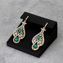 Sunspicems Chic Caftan Earring for Women Gold Color Algeria Moroccan Wedding Jewelry Arab Drop Earring Bride Gift Wholesale 2020