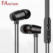 FANGTUOSI stereo wired headset 3.5mm in-ear Earphone bass game sports Earbuds Ea