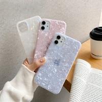 Glitter Silikon Conch Shell Muster Telefon Fall Für IPhone 11 12 Pro Mini Max X XR XS 7 8 plus SE2020 Weiche TPU Luxus Zurück Abdeckung