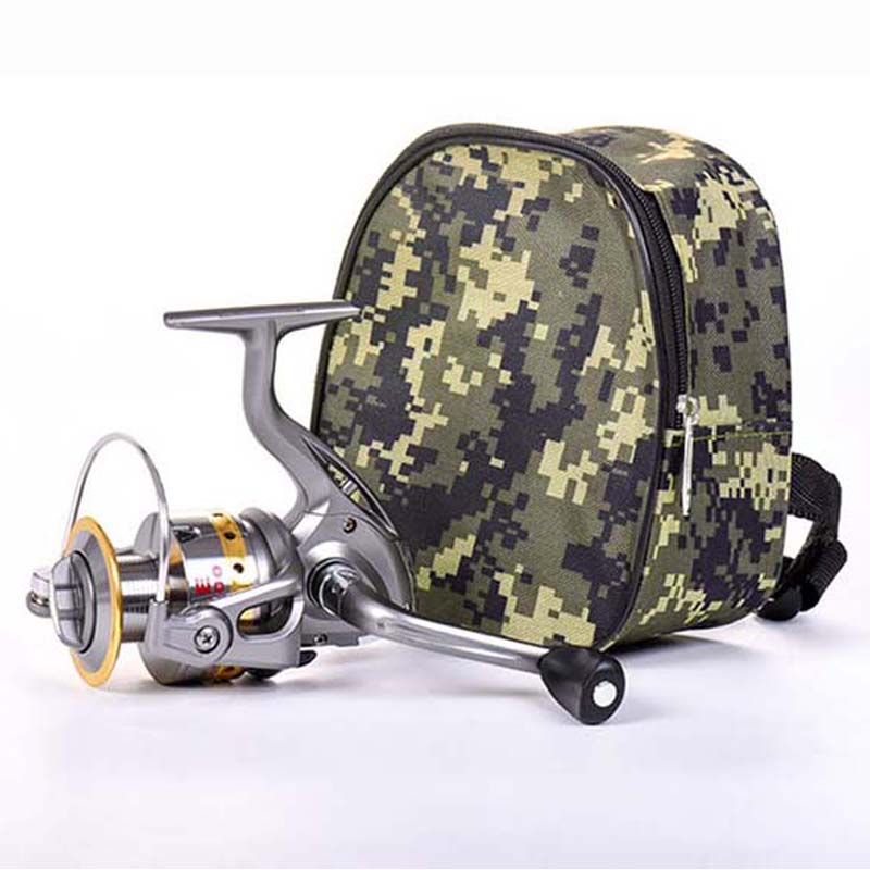 Portable Mini Fishing Bags Pocket Fishing Tackle Pouch Case Outdoor Sports Spinning Fishing Reel Protective Bag Holder