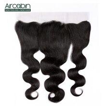 Brasilianische Körper Welle Haar 13*4 Spitze Frontal Schließung Mit Baby Haar 100% Menschliches Haar Nicht Remy Spitze verschluss Aircabin Haar
