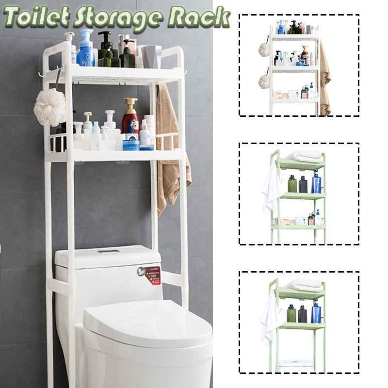 2/3 niveaux toilette serviette de rangement support étagères sur salle de bain étagère organisateur outil de stockage salle de bain accessoires plancher debout