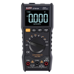 Winapex Et8104 ЖК-дисплей портативный автоматический измерительный мультиметр Ac/Dc напряжение емкость тока Электрический полевой Измеритель сопр...