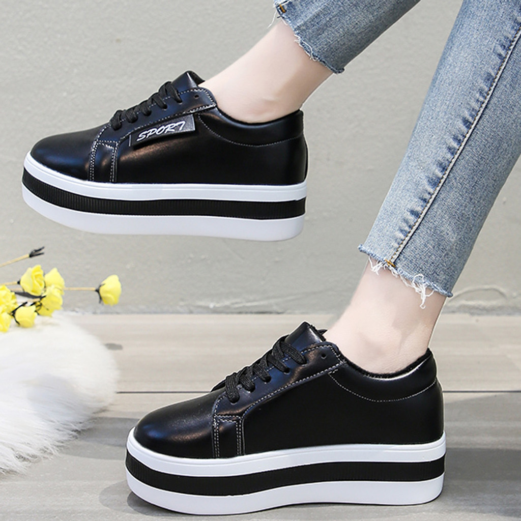 2020 New Fashionable Women Sneakers Women's Shoes With Platform Casual Sneakers Sports Platform Sneakers Women Platform Shoes