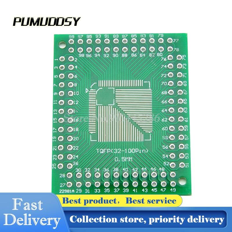 5 предметов в партии, Lotr печатной платы конвертер пластины 0,5/0,8 мм IC разъем адаптера QFP TQFP LQFP FQFP Большие размеры 32-44 64 80 100 LQF SMD обратиться к DIP к...