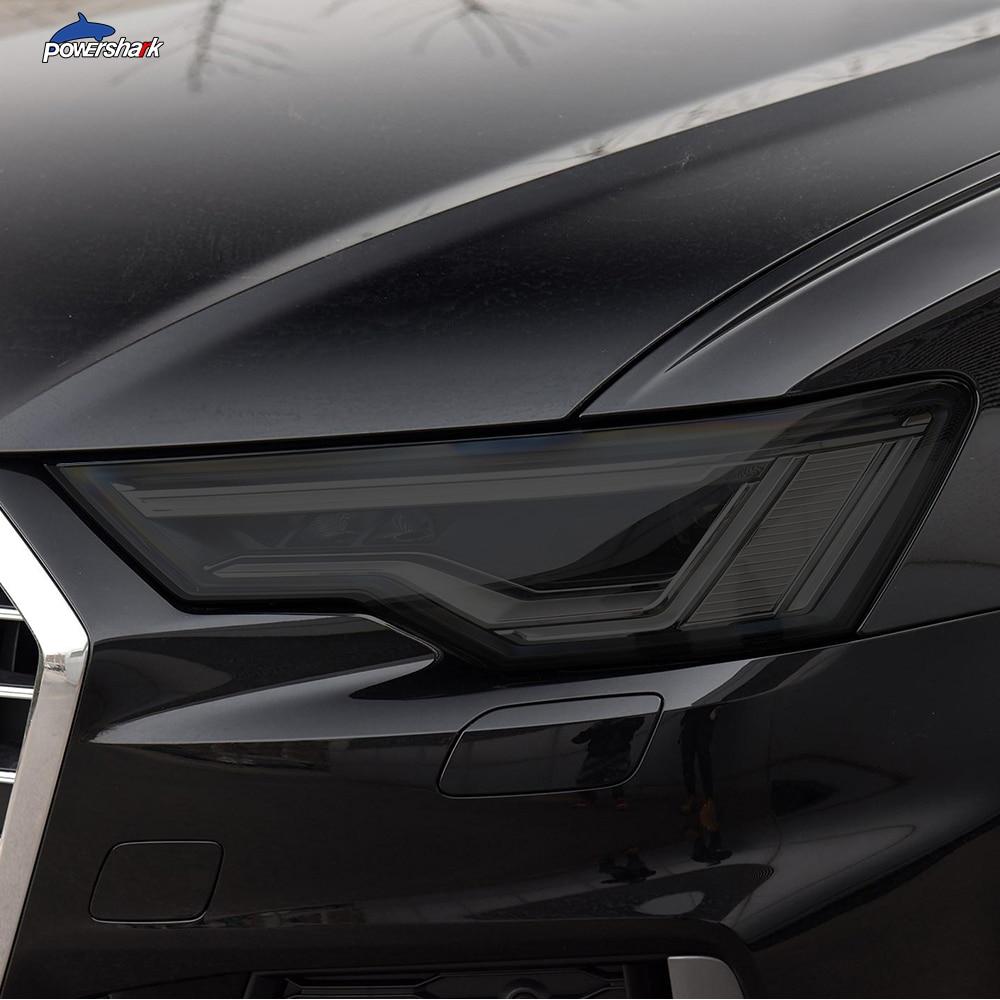 Тонировка для автомобильной фары, Черная защитная пленка, Защитная прозрачная наклейка из ТПУ для Audi A3 S3 RS3 A4 A6 A7 S6 Q3 Q5 Q7, аксессуары