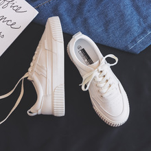 Women Shoes 2019 Autumn New Fashion Trend Comfortable Leather Shoes Flats Casual White Shoelace Low-top Shoes Women