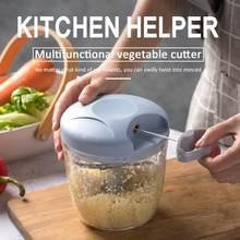 500/900ml mão chopper manual corda processador de alimentos silcer shredder salada fabricante alho cebola cortador cozinha ferramenta acessórios