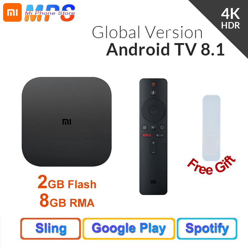 Original <font><b>Global</b></font> <font><b>Version</b></font> <font><b>Xiaomi</b></font> <font><b>Mi</b></font> <font><b>Box</b></font> <font><b>S</b></font> 2GB 8GB Android 8.1 Smart 4K Ultra HD WIFI Google Cast Netflix IPTV Set top <font><b>Box</b></font> image
