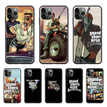 Gta 5 Grand Theft Auto V Phone Case cover For iphone 4 4S 5 5C 5S 6 6S PLUS 7 8 X XR XS 11 PRO SE 2020 MAX black funda trend image