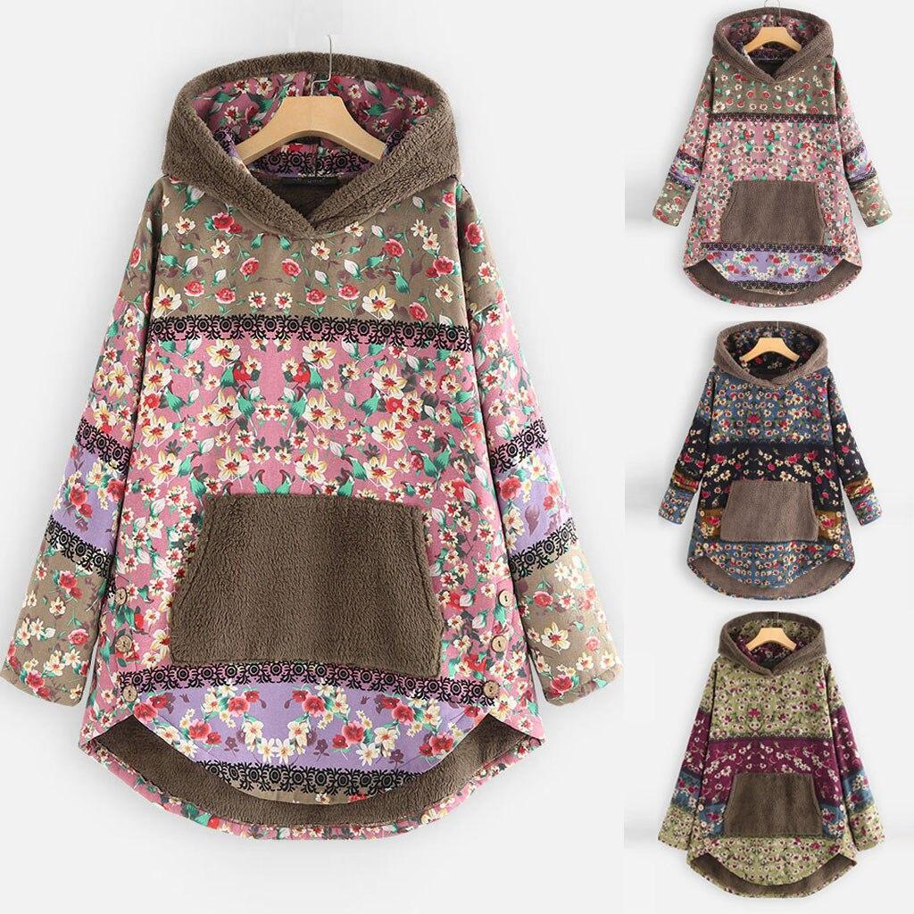 He6d4661456d04a2ba1eb1ab595af2debj Female Jacket Plush Coat Womens Windbreaker Winter Warm Outwear Retro Print Hooded Pockets Vintage Oversize Coats Plus Size 5XL