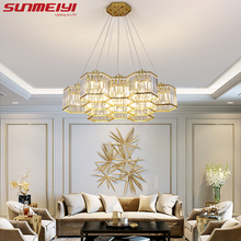 Led-Pendant-Lights Crystal-Shade Lampara Loft Bedroom Dining-Room Modern Ce for Colgante