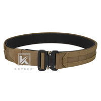 "KRYDEX Tactical Cobra Rigger Duty Belt For Hunting Shooting Outdoor 1.75"" &1.5"" 2 IN 1 Outer & Inner Quick Release MOLLE Belt CB"