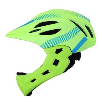 Chin Detachable Riding Full Face Safe Outdoor Protective Balance Unisex Children With Rear Light Cycling Bike Bicycle Helmet