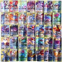 Pokemon francuska karta GX TAG non repeat lśniąca gra karciana bitwa Carte Trading zabawka dla dzieci
