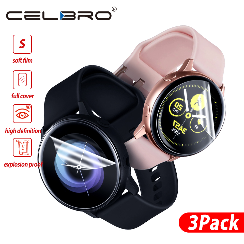 Protective-Film Smartwatch Not-Glass Samsung for Galaxy Active-Protector Clear