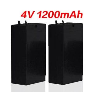 Lead Acid 4V 1200mAh Storage Battery Mosquito Bat Batteries LED Lamp Headlights Flashlight Rechargeable High Capaci