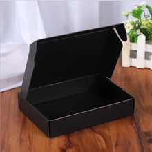 Paper-Box Kraft-Carton-Support Gifts Small Logo And 10pcs Blank Printed 5psc Black-Color