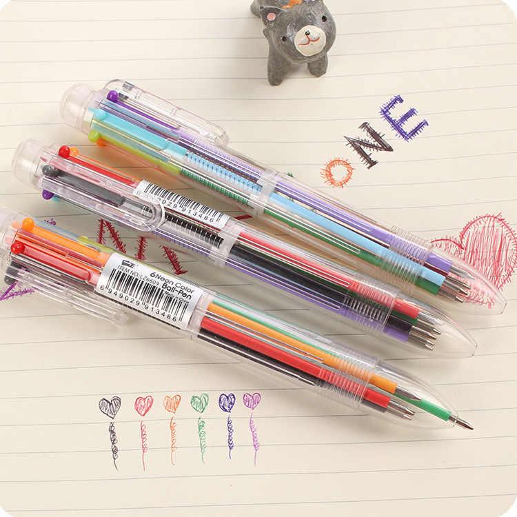 2019 قائمة 6 لون قلم حبر جودة عالية ألوان مختلفة مدرسة طالب مكتب القرطاسية قلم حبر