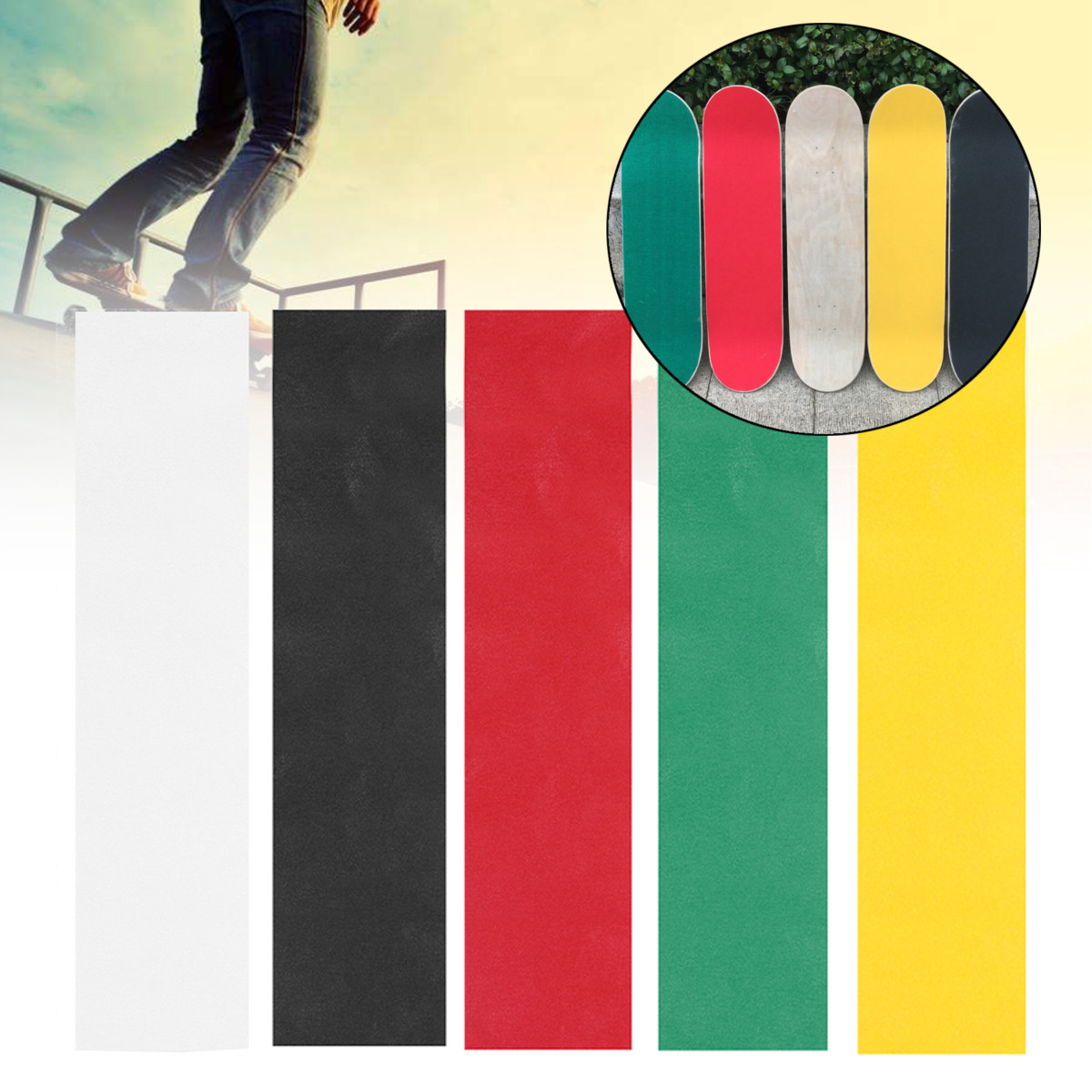 Longboarding Skating-Board Sticker Professional Skateboard Deck Sandpaper Grip Tape Griptape Skating Board Sticker
