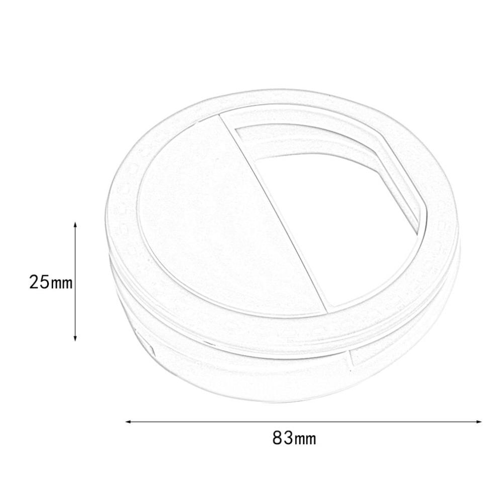 He6d51b5b1eeb4fafb3e121e28cc28bb4N - Universal Selfie LED Flash Ring Light Portable Lamp Mobile Phone Lens For iPhone Xiaomi mi9t Samsung S10 S9 Luminous Ring Clip