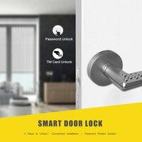 สมาร์ท Keyless Door ล็อค Mechanical ประตูล็อคประตูล็อคอิเล็กทรอนิกส์กระบอกปลดล็อคโดยรหัส TM Card ซ้ายประเภท