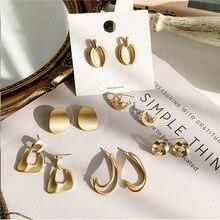 Fashion statement Earrings Jewelry 2020 Big Geometric earrings For Women Hanging Dangle Earrings Drop Earing modern Jewelry golden statement earrings 2018 ball geometric earrings for women round dangle earrings drop modern art fashion party jewelry