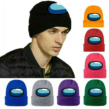 2 Designs Hot Game Among Us Knitted Hat Cap Model Among Us Game Hip Hop Hat Keep Warm Gift Stock Bonnets For Women Beanie image