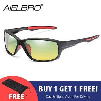 цена на Men Polarized Sunglasses Night Vision Driving Sunglasses UV400 Anti-shock Night Driving Sun Glasses